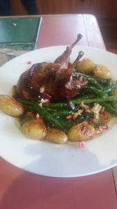 Roasted Quail in Central Otago wild thyme and oregano