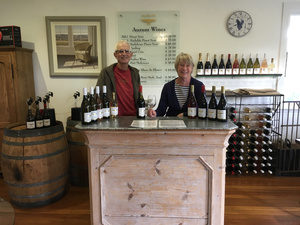 Tony and Joan Lawerence  Owners of organic vineyard